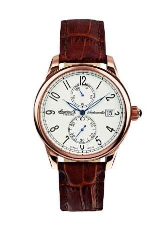 Ingersoll Herren-Armbanduhr Analog Edelstahl weiss IN8008RWH