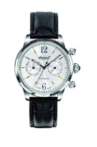Ingersoll Herren-Armbanduhr Analog Leder schwarz IN8009SL