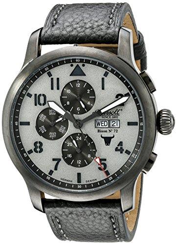 Ingersoll Unisex Automatik Uhr mit grauem Zifferblatt Analog Anzeige und grau Lederband in1221gugy