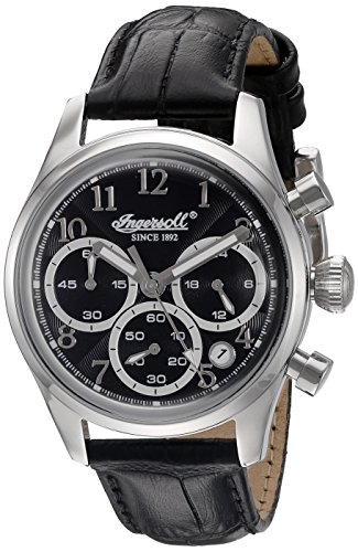 Ingersoll Damen Armbanduhr Chronograph Quarz INQ042BKSL