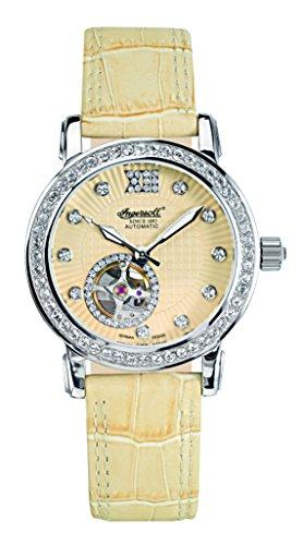 Ingersoll Damen Armbanduhr Automatik mit Gelb Zifferblatt Analog Anzeige und Gelb Lederband IN7215YL
