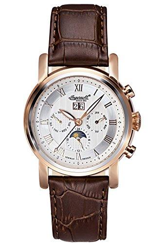 Ingersoll Herren Armbanduhr Boise Chronograph Automatik Leder IN1229RSL