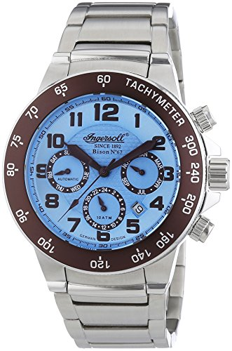 Ingersoll XL Bison N0 67 Chronograph Automatik Edelstahl IN1512BLMB