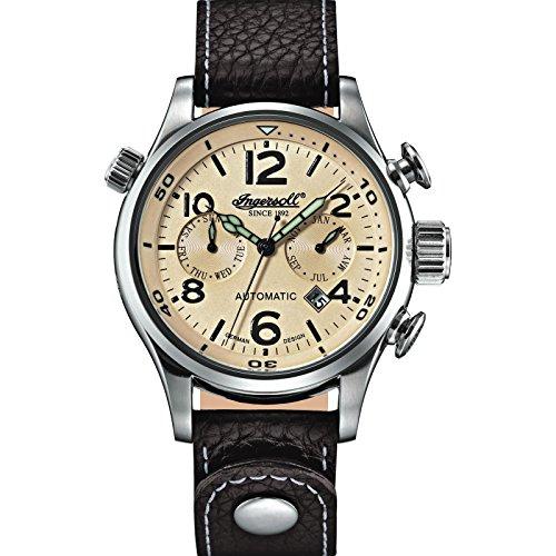 Ingersoll Herrenuhr Active Watches Analog Automatik dunkelbraun champagner IN1809CH
