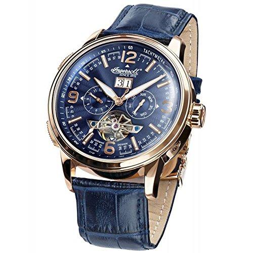 Ingersoll in1222rgbl Connecticut blau Leder Strap Band Blau Zifferblatt Armbanduhr