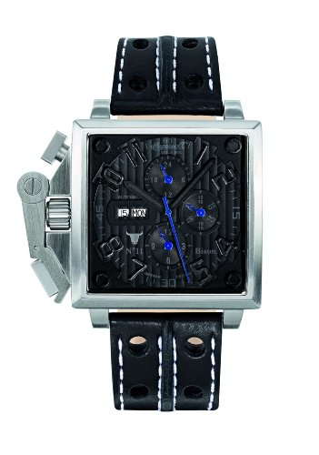 Ingersoll IN1613BKBK Uhr fuer Maenner Lederband schwarz