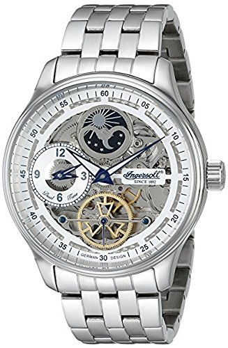 Ingersoll Herren in2705whmb Boonville Automatische selbst wind Silber Armbanduhr