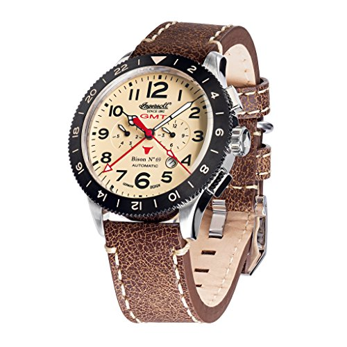 Ingersoll in3224cr braun Lederband Band Tan Zifferblatt Armbanduhr Armbanduhr