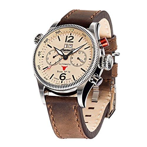 Ingersoll in3225cr braun Lederband Band Tan Zifferblatt Armbanduhr