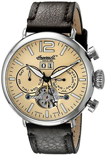 Ingersoll Unisex Armbanduhr Analog Automatik Leder Schwarz IN1230WH