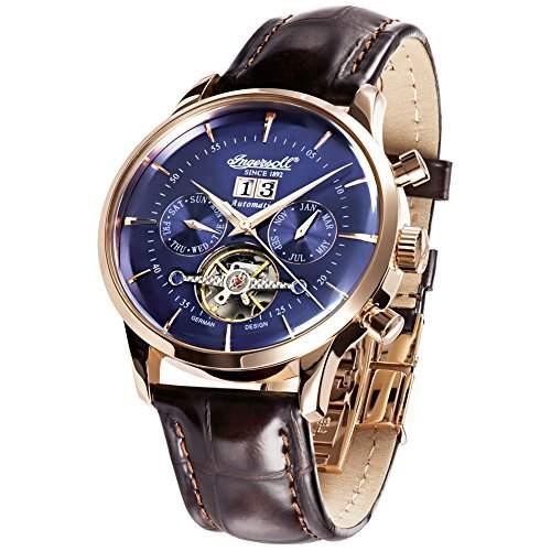 Ingersoll Herren-Armbanduhr Kearny Chronograph Automatik Leder IN1709RBL