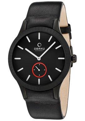 Obaku Harmony Herren Armbanduhr V103G BBRB Titanglas