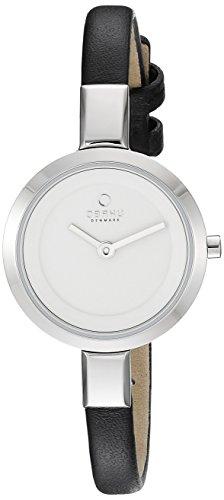 Obaku Damen v129lxcirb Analog Display Analog Quartz Black Watch