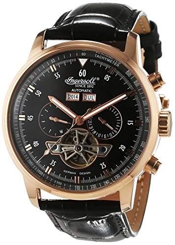 Ingersoll Herren-Armbanduhr Okies Chronograph Automatik Leder IN4511RBK