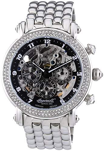 Ingersoll Damen-Armbanduhr Pream Chronograph Automatik Edelstahl IN7202BKMB