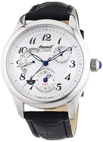 Ingersoll Herren-Armbanduhr XL Sam Analog Automatik Leder IN8410WH