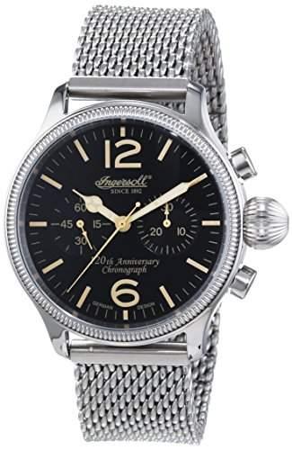 Ingersoll Herren-Armbanduhr XL Wells Fargo II Chronograph Automatik Edelstahl IN4605BKMB