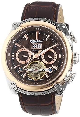 Ingersoll Herren-Armbanduhr XL Las Vegas Chronograph Automatik Leder IN6909RBR