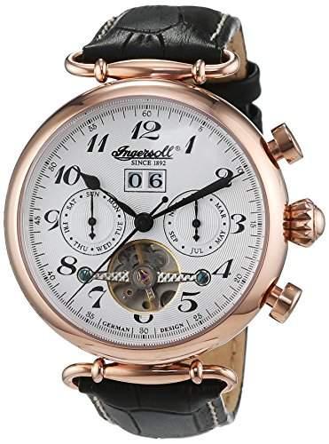 Ingersoll Herren-Armbanduhr XL Chronograph Automatik Leder IN1312RSL