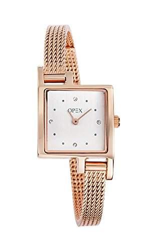 X3236MA2-Tag-Opex Damen-Armbanduhr Alyce Quarz analog Stahl goldfarben