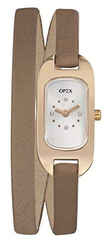 Opex Damen-Armbanduhr Ballerine Analog Quarz Leder X0391LG5