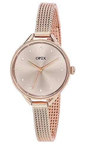 Opex-X4056MA1 You See Soon Damen-Armbanduhr Alyce Quarz analog Stahl goldfarben