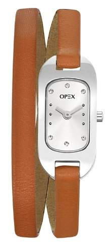 Opex Damen-Armbanduhr Ballerine Analog Leder orange X0391LE3