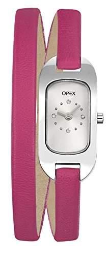 Opex Damen-Armbanduhr Ballerine Analog Quarz Leder X0391LG3