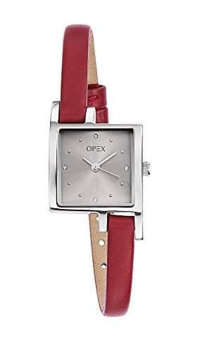 Opex Damen-Armbanduhr Jour Analog Quarz Leder X3231LB9