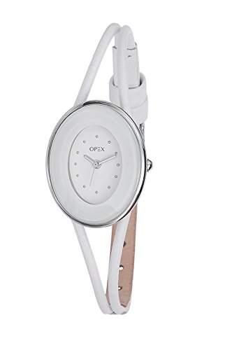 Opex Damen-Armbanduhr Analog Leder weiss X3641LA4