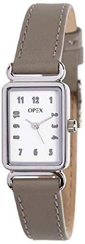 Opex Damen-Armbanduhr Analog Leder grau X3712LA3