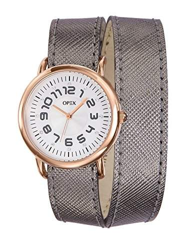 - X3866LA1-Cavalière Opex Damen-Armbanduhr Lolla Quarz analog Leder grau, grau