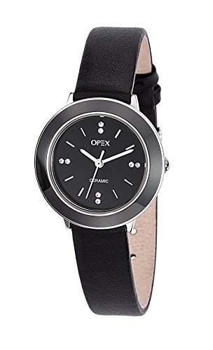Opex Damen-Armbanduhr Luxia Analog Quarz Schwarz X3921LA1