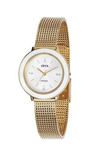 - X3923CA1-Luxia Opex Damen-Armbanduhr Alyce Quarz analog Stahl goldfarben