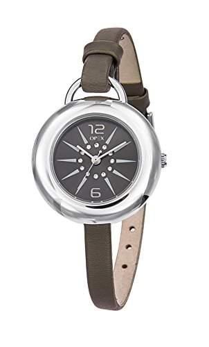 Opex-X3941LA2-West Side Damen-Armbanduhr Lolla Quarz analog Leder grau, grau