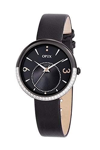 - X3985LA1-Balleto Opex Damen-Armbanduhr Lolla Quarz analog Leder Schwarz