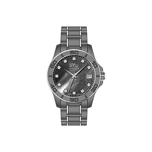 B360 WATCH Unisex-Armbanduhr Medium, Analog Quarz verschiedene Materialien B CLASS ONE LW DARK GREY SS