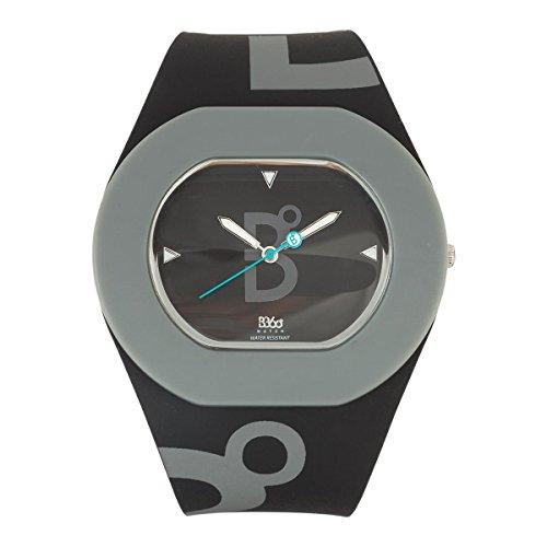 B360 WATCH Unisex Armbanduhr B COOL Black and Grey Medium 3 bars Analog Quarz Silikon 1070089
