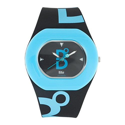 B360 WATCH Unisex Armbanduhr B COOL Black and Blue Small 3 bars Analog Quarz Silikon 1070104