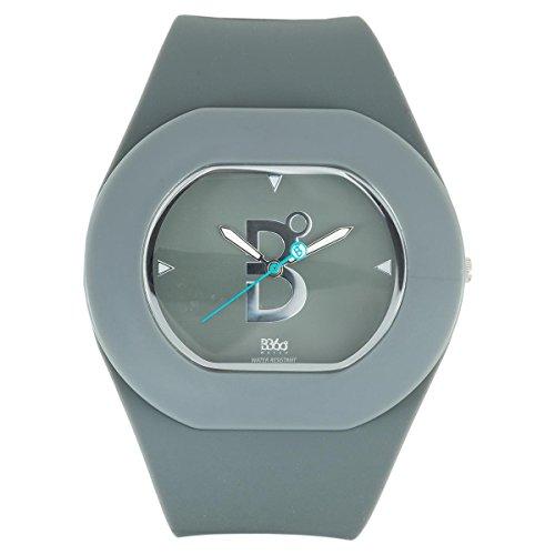 B360 WATCH Unisex Armbanduhr B COOL Grey Large 3 bars Analog Quarz Silikon 1070036