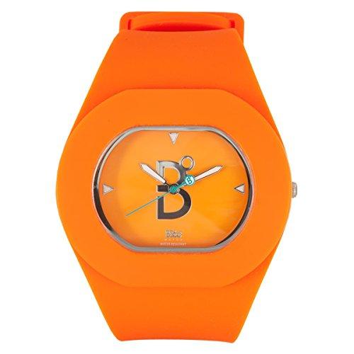 B360 WATCH Unisex Armbanduhr B COOL Orange Large 3 bars Analog Quarz Silikon 1120001