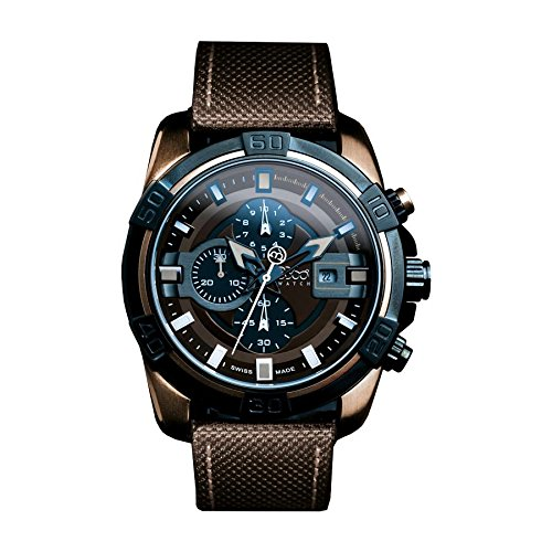 B360 WATCH Unisex Armbanduhr Large 10 bars Analog Quarz verschiedene Materialien B CLASS ONE BROWN IP
