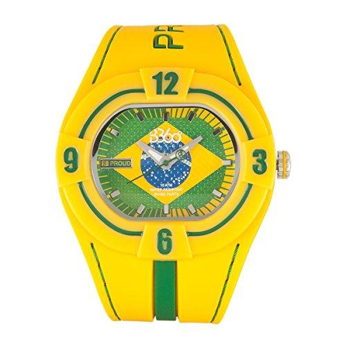 B360 WATCH Unisex Armbanduhr Large 10 bars Analog Quarz Silikon B PROUD NEW BRAZIL L