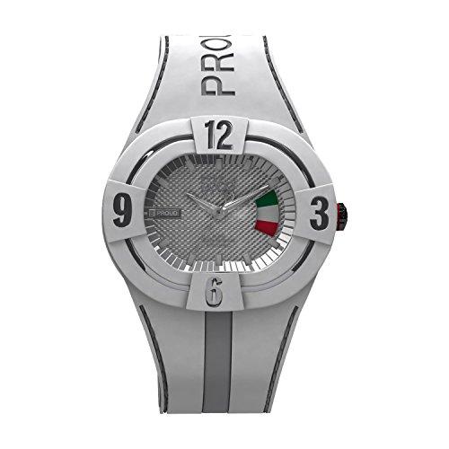 B360 WATCH Unisex Armbanduhr Large 10 bars Analog Quarz Silikon B PROUD NEW ITALY L
