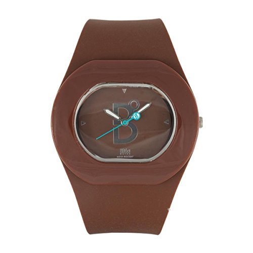 B360 WATCH Unisex Armbanduhr Medium 3 bars Analog Quarz Silikon B COOL Brown