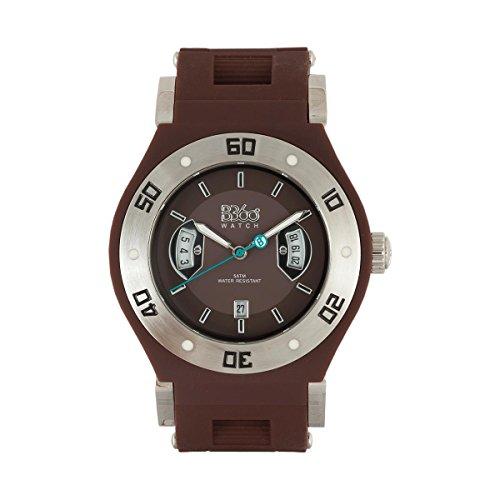 B360 WATCH Unisex Armbanduhr Medium 5 bars Analog Quarz Silikon LSS BROWN M 2