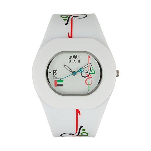 B360 WATCH Unisex Armbanduhr Medium 3 bars Analog Quarz Silikon B PROUD UAE WW Mix
