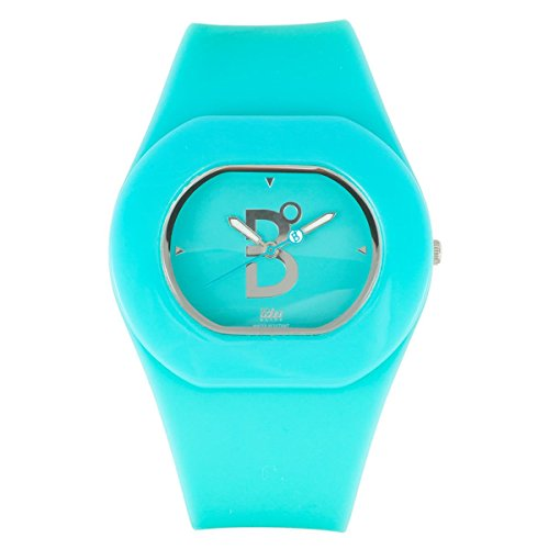B360 WATCH Unisex Armbanduhr Medium 3 bars Analog Quarz Silikon B COOL Turquoise