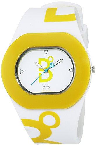 B360 WATCH Unisex Armbanduhr Medium 3 bars Analog Quarz Silikon B COOL White and Lime