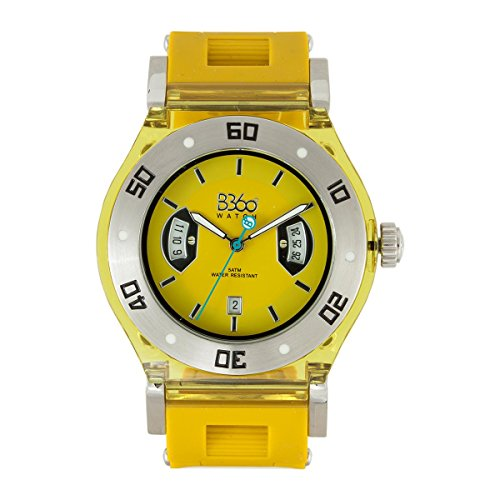 B360 WATCH Unisex Armbanduhr Medium 5 bars Analog Quarz Silikon B CLASS TS YELLOW M